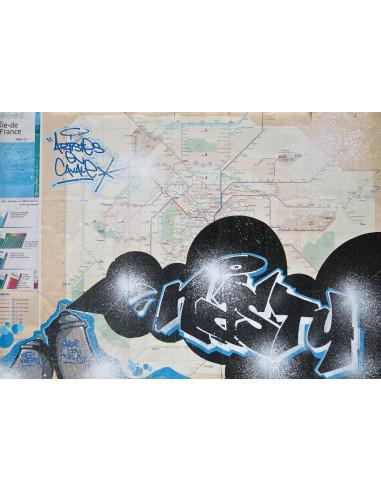 "Plan de métro ""Original subway map 7"" - NASTY"
