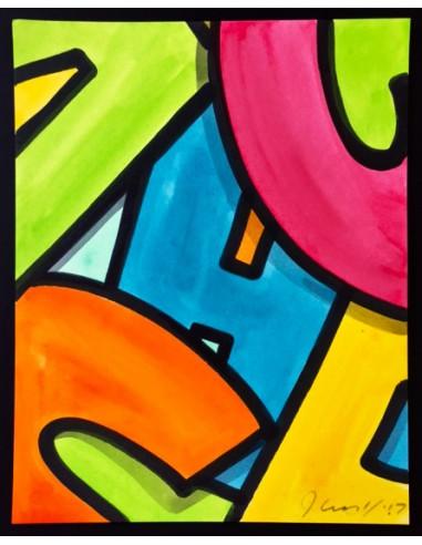Scrabble watercolor 10 - CRASH