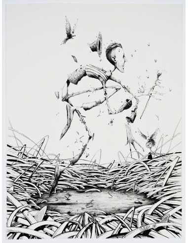 "Dessin ""Nature peinture"" - MAYE & MOMIES"