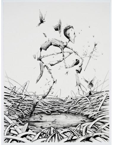 """Original drawing """"Nature peinture"""" - MAYE & MOMIES"""