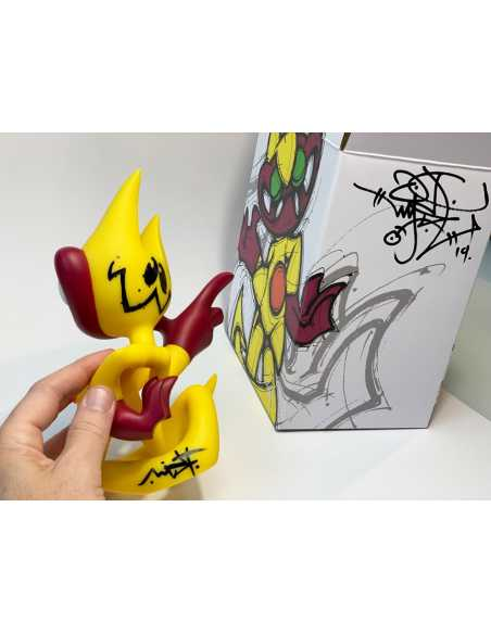 Toy Yellow Devilo Erectus signed - MIST