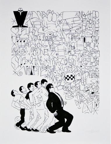 """""""Killer queen"""" drawing on paper - HONET"""