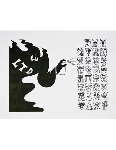 """Bronski Beat"" drawing on paper - HONET"