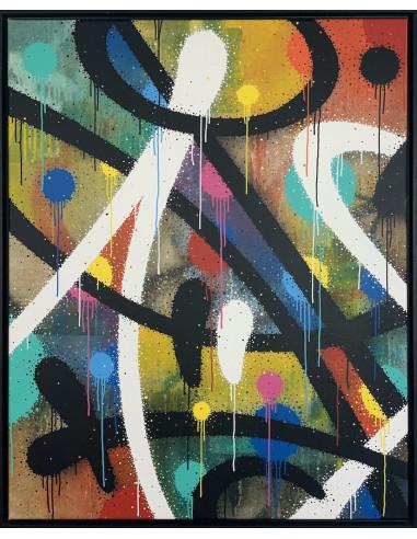 Galactik Jungle 3 Canvas - MIST