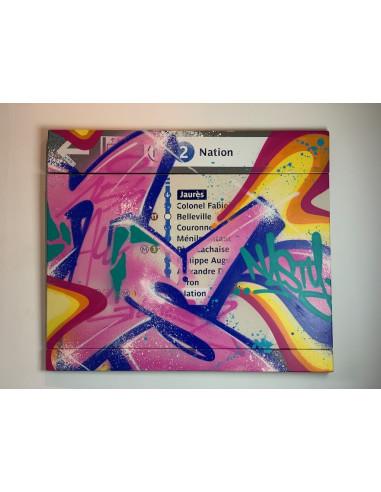"""Plaque émaillée """"M2 Nation"""" - NASTY"""